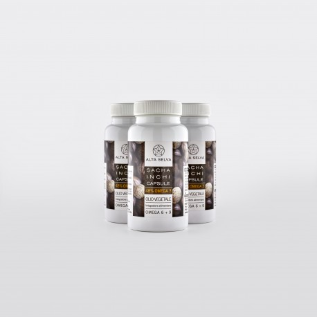 3 packages SACHA INCHI capsules (180 capsules)