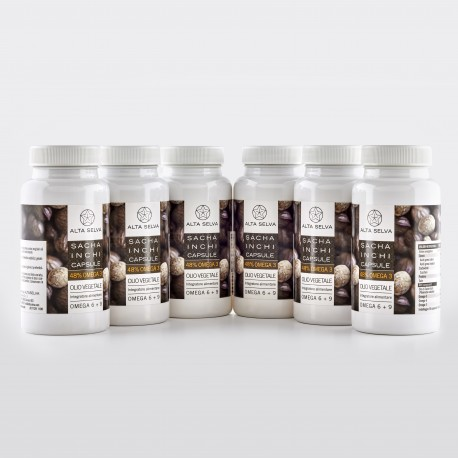 6 packages SACHA INCHI capsules (360 capsules)