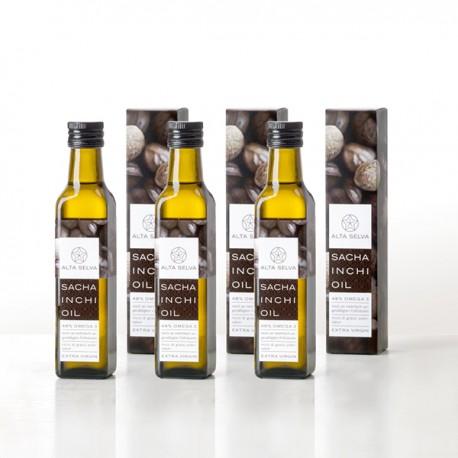 Packung mit 3 Flaschen Sacha Inchi Öl 750 ml