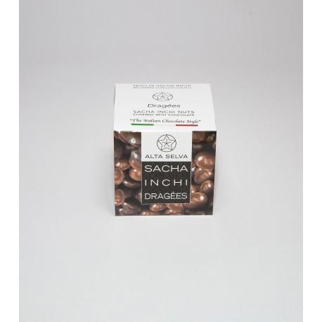 Sacha Inchi dark-chokolate dragèes